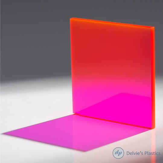 Fluorescent Cast Acrylic Plexiglass Sheet Delvie S Plastics Inc