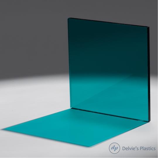 2120 Transparent Teal Acrylic Sheet Delvie S Plastics Inc