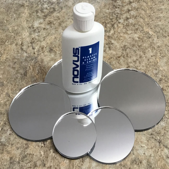 Laser Cut Clear Mirrored Acrylic Discs From Delvie S Plastics