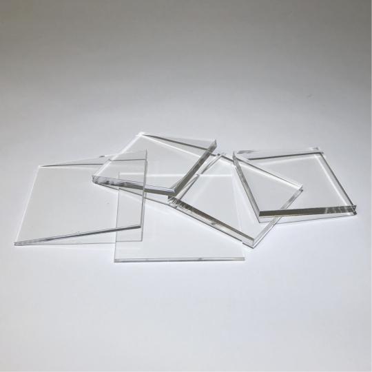 Laser Cut Clear Acrylic Squares Delvie S Plastics Inc