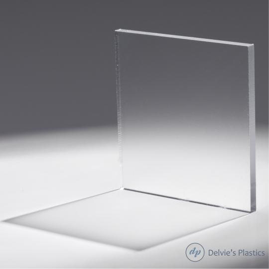 "One Side Clear Matte//Frosted P-95 Acrylic Plexiglass sheet 1//16/"" x 6/"" x 12/"""